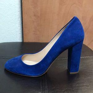 J Crew suede block heel pumps